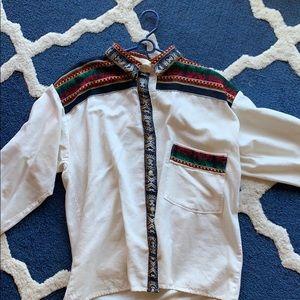 Other - VINTAGE Men's Linen Shirt 60's